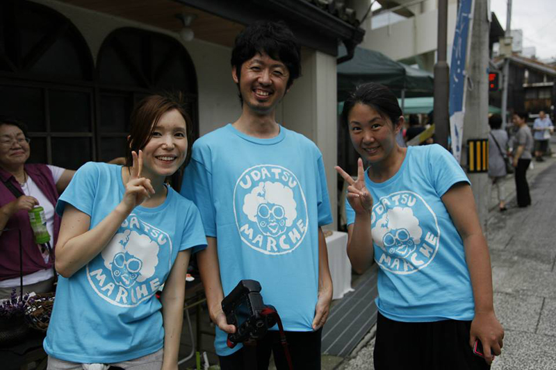 池田町で開催されているうだつマルシェにボランティアスタッフとして毎回参加しています。