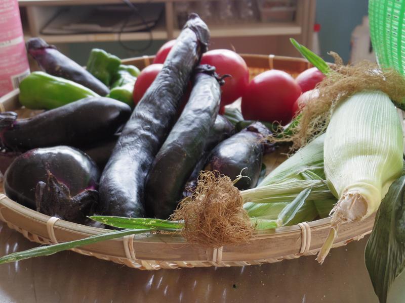 ご近所さんに新鮮な野菜をいただけるのも田舎生活の楽しみ